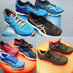 @asicsrunning new colours and models in store Kayano 24 GT 1000-6 Cumulus 19 Fuji Rado trail #asics #newshoes #running