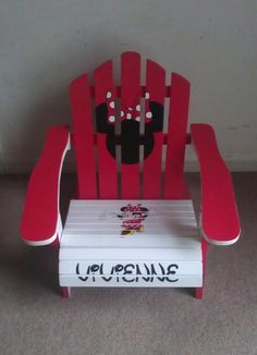 Childrens Hand painted Made to Order Adirondack Chair Can Be