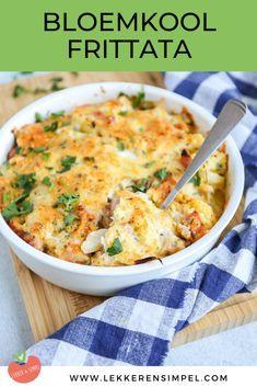 Frittata, Omelet, Veggie Recipes, Cooking Recipes, Healthy Recipes, Dutch Recipes, Healthy Food, Paleo Dinner, Dinner Recipes