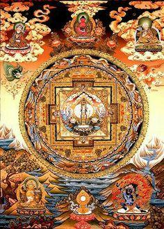 Mandala of 1000 arms Bodhisattva Avalokitesvara Buddha Buddhism, Buddha Art, Tibetan Buddhism, Tibetan Mandala, Tibetan Art, Vajrayana Buddhism, Buddhist Symbols, Thangka Painting, Hindu Art
