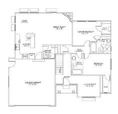 Home Plans HOMEPW25862 - 1,320 Square Feet, 2 Bedroom 2 Bathroom Bungalow Home with 2 Garage Bays