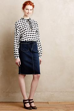 Caitlin Checkered Blouse - anthropologie.com