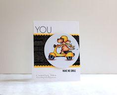 YOU make me smile, Gerda Steiner Designs, Copics, Simon Says Stamp