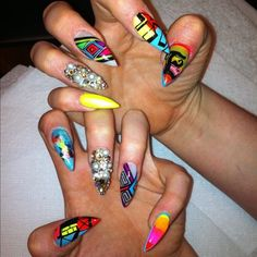 pointy nail designs | stiletto nail designs are a hot new trend the stiletto nail came alive ...