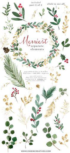 Watercolor Christmas Cards, Christmas Drawing, Watercolor Cards, Christmas Art, Simple Christmas, Holly Christmas, Christmas Patterns, Christmas Holidays, Christmas Photo Card Template
