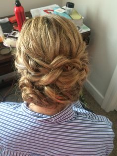 Braided updo perfect for prom or wedding. Very elegant and soft, would look great with a veil || hair by Kayla Johnson