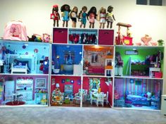 Our American Girl Doll House.