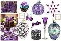 Kuszący fiolet na świątecznym stole i w eleganckich dodatkach. Szklane bombki choinowego oczywiście z ExArte