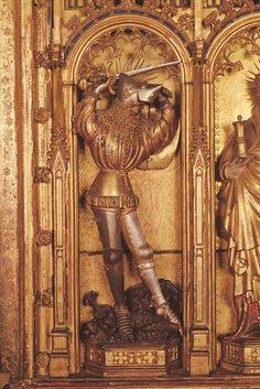 Saint George Dating 1399 Musée des Beaux-Arts, Dijon, Côte-d'Or, France Medieval Helmets, Medieval Armor, Saint George And The Dragon, Early Middle Ages, Knight In Shining Armor, Beautiful Nature Wallpaper, Effigy, European History, 14th Century