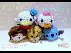 "Rainbow Loom ""Loomigurumi"" Daisy and Donald Duck(Inspired by TSUM TSUM) - YouTube"
