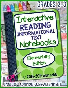Interactive Reading Informational Text Notebooks *Elementa