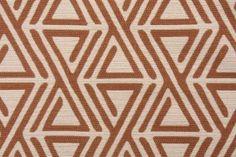 Robert Allen Triangle Maze Upholstery Fabric in Copper $28.95 per yard