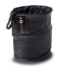 Zone Tech Universal Traveling Portable Vehicle Trash Can - Black Collapsible Pop-up Leak Proof Trash Can ? LEAK PROOF - The Zone Tech trash can is leak Trash Can For Car, Car Trash, Trash Bag, Interior Accessories, Car Accessories, Tech Branding, Fit Car, Car Gadgets, Garbage Can