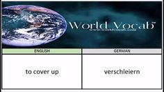 to cover up - verschleiern German Vocabulary Builder Word Of The Day #207 ! Full audio practice at World Vocab™! https://video.buffer.com/v/582e1f47bee212d73764ca38