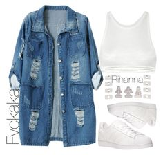 """""""Watching old bgc episodes."""" by fvckaka ❤ liked on Polyvore featuring adidas, Chicnova Fashion, T By Alexander Wang and Maison Margiela"""