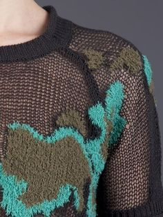 3.1 Phillip Lim - Open knit intarsia pullover 5