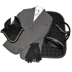 Outfit of the Day: Equiline Gioia Show Jacket, Silver Pinstripe Stock Tie, ELT Arosa Riding Gloves, Kavalkade Fly Veil,Schumacher Dubai Snaffle Bridle,Centaur Sovereign Dressage Pad