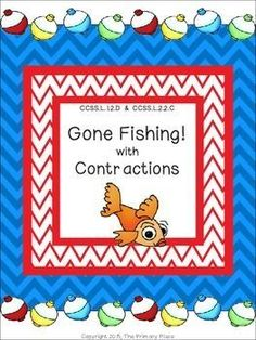 The Gone Fishing with Contractions Center Game created by The Primary Place is ideal for 1st and 2nd grade.  There are 11 pages in this PDF file. You can make this a center or create enough for the class to do this activity at the same time in small group