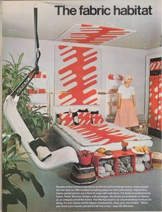 Bedroom design from Sphere magazine, 1975.