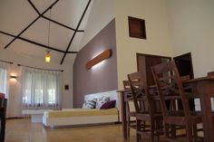 The other part of the spacious living area is the living room with comfortable sofa bed and Sat-TV.