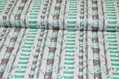 Designerstoffe USA - Tula Pink Bumble Forest Stripe mint Baumwolle - ein Designerstück von Stoff-abc bei DaWanda