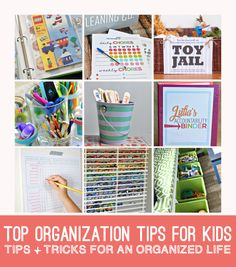 Top organizing tips for kids - ideas for kids to learn organization and responsibility!
