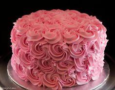 Buttercream Cake Decorating Ideas | Rose Cake(Buttercream Swirls) by Jimmy Camacho | Cake Decorating Ideas
