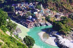 Rios Alaknanda e Bhagirathi - Devprayag, Índia.