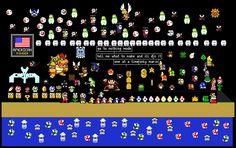 The Powder Toy - mario sprites by captainT What To Make, Sandbox, Sprites, Physics, Mario, Powder, Toy, Game, Physique