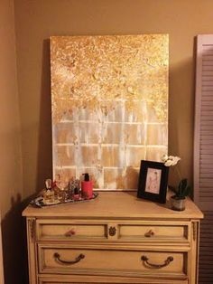 Gold-leaf abstract painting. Follow amazinggrace_designs on Instagram for more paintings.