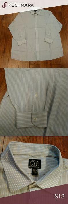 """Jos A Bank Collection Shirt Size 18-33 Jos A Bank Collection Pinstripe Long Sleeve Shirt Size 18-33  1 Pocket  Button Front  100% Cotton  In Excellent Pre-owned Condition With No Stains Or Holes  Aprox Measurements Taken Flat  Shoulders: 22"""" Chest: 28"""" Sleeves: 22/19"""" Length: 34""""  Please Check Out My Other Items  #58 Jos A Bank Shirts Dress Shirts"""