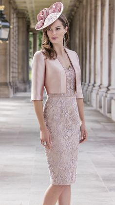 John Charles Pink Appliqued Mother Of The Bride Dresses 2017 V Neckline Beading Half Sleeve Jacket Mothers Dresses Knee Length Bridalwear Mother Of Bride Outfits, Mother Of Groom Dresses, Mothers Dresses, Mother Of The Bride, Bride Dresses, Glamorous Dresses, Elegant Dresses, Beautiful Dresses, Groom Outfit