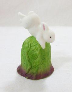 Vintage Enesco porcelain thimble figurine bunny by MashliDesign