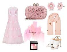 ImaginePink by sakura-disward on Polyvore featuring Georges Hobeika, Alexander McQueen, Irene Neuwirth, Janavi, Bobbi Brown Cosmetics, TEM, Pink and dress