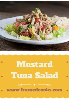 Liven up your lunchtime with this easy and flavorful recipe for mustard tuna salad.  Hold the mayo and bring on the mustard!
