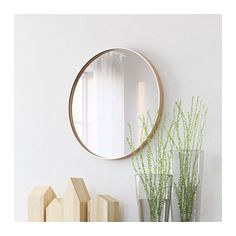 SKOGSVÅG Mirror IKEA Safety film  reduces damage if glass is broken. Suitable for use in most rooms, and tested and approved for bathroom use.