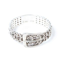 Fab.com | Sterling Lace Belt Ring