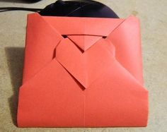 Valentine Origami Heart Love envelope origami diagrams (Chinese)