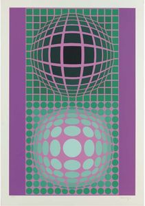 Abstract Composition 27 - (Victor Vasarely)