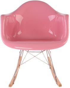 Replica Eames RAR Rocker - pink (Fibreglass)
