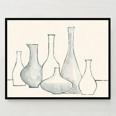 Framed Print - Bottles + Vases | west elm
