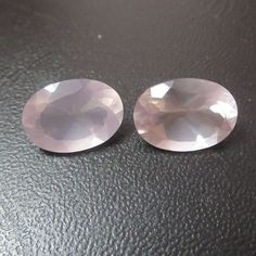 10X14 mm natural ROSE QUARTZ oval top cut faceted gemstone..... beautiful baby pink color....