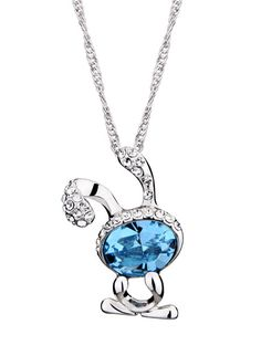Beautiful Cute Rabbit for Rs. 1199 #Indian #Jewelry #Swarovski #crystal #Pendant
