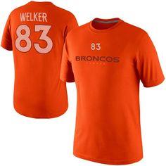 Nike Wes Welker Denver Broncos Player Name And Number T-Shirt - Orange