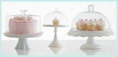 Rosanna White Pedestals with Optional Dome