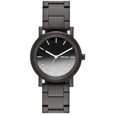 DKNY 'Soho' Round Bracelet Watch, 34mm Black