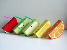 such a cute idea for juice boxes