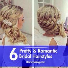 6 Pretty & Romantic Bridal Hairstyles