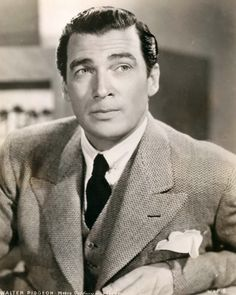 Walter Pidgeon (1897 - 1984) | Starred in How Green Was My Valley, Mrs. Miniver, Madame Curie, Scandal at Scourie, & Kiss Me Again
