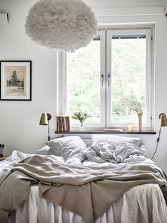 8 Cozy Bedroom Ideas That'll Make You Want to Hibernate - bed under Window with Lighting / Home Accessories Bedroom Chair, Cozy Bedroom, Dream Bedroom, Bedroom Decor, Bedroom Ideas, Closet Bedroom, Tranquil Bedroom, Cool Girl Bedrooms, Awesome Bedrooms